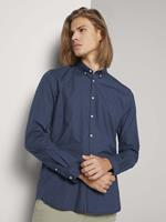TOM TAILOR DENIM overhemd met patroon, navy dot cross print