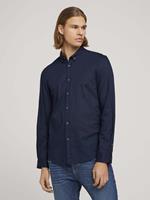 TOM TAILOR DENIM Luchtig overhemd met patroon, Black Iris Blue