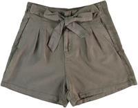 Vero moda soepel armygroentaupe lyocell relaxed fit short - valt kleiner