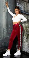 Cosmoda Collection Trendy love sport/lounge thermo broek bordeaux