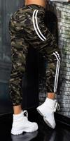Cosmoda Collection Sexy camouflage cargo thermo sweatpants khaki