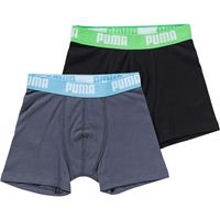 Puma 2-pack boxershorts boys - turquoise/groen
