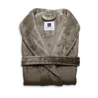 Zo Home Flanel Fleece Badjas Cara - steeple taupe
