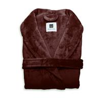 Zo Home Flanel Fleece Badjas Cara - mahogany red