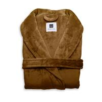 Zo Home Flanel Fleece Badjas Cara - cognac brown