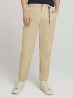 TOM TAILOR DENIM Relaxed Fit Chino broek, Smoked Beige