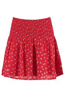 America Today Dames Plooirok Met All-over Print Rood