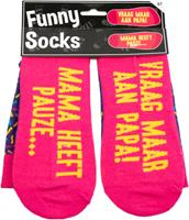 Paper Dreams sokken Funny Socks mama heeft pauze katoen one size