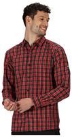 Regatta blouse Ash heren polyester rood/zwart