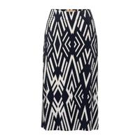 Street One rok met all over print donkerblauw/wit