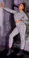 Cosmoda Collection Luxury look 2-piece set leggings+sweatshirt wit