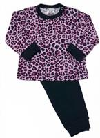 Beeren pyjama Panter meisjes roze/zwart