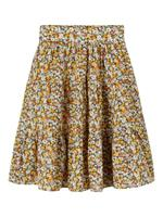 Name it Bloemenprint Middellange Rok Dames Oranje
