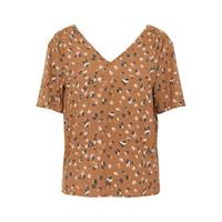 OBJECT top OBJNELLE met all over print bruin