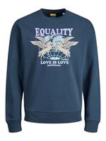 Jack & jones Pride Sweatshirt Heren Blauw