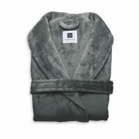 Zo Home Flanel Fleece Badjas Cara - dark grey