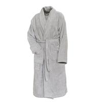 Linnick Pure Badjas Velours - light grey - XL