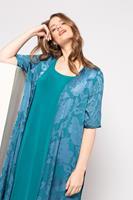Ulla Popken Grote Maten blousejasje, Dames, turquoise,