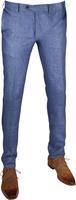 Suitable Linnen Pantalon Blauw