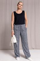Ulla Popken Grote Maten 7/8-broek Rose, Dames, blauw,