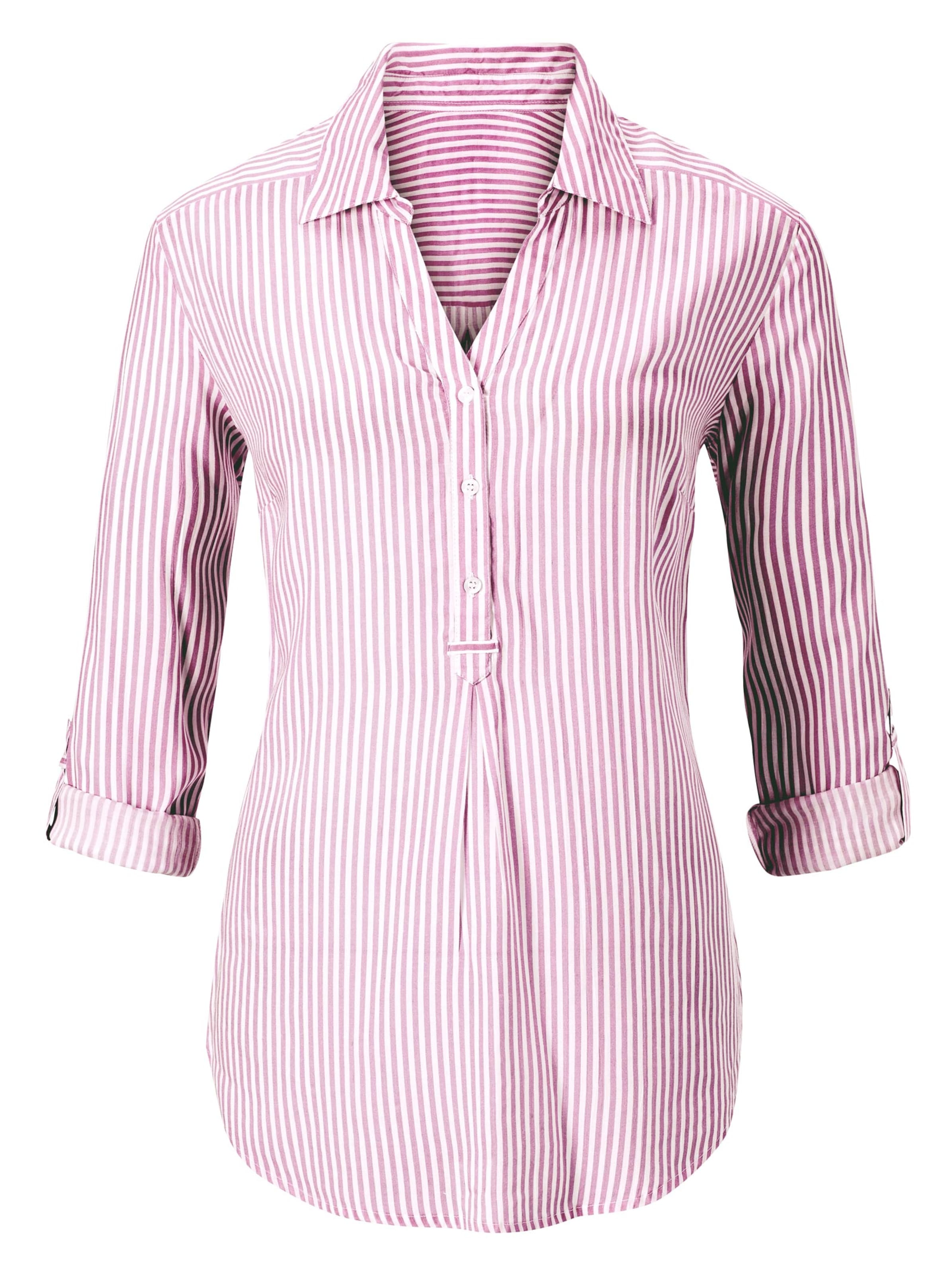 Your Look... for less! Dames Gestreepte blouse bessenrood gestreept Größe