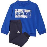 Adidas Essentials Sweatshirt en Broek - Bold Blue / White - Kind