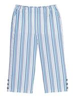 Your Look... for less! Dames 7/8-broek jeansblauw/salie gestreept Größe