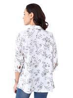 Your Look... for less! Dames Longline blouse wit geprint Größe