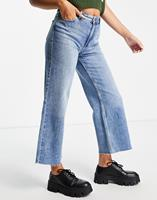 Only Sonny - Jeans met wijde pijpen en hoge taille in middenblauw met wassing