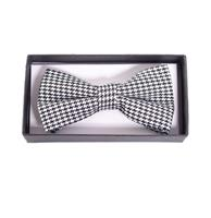 Fiftiesstore Ribbon Dance Bow Tie Houndstooth