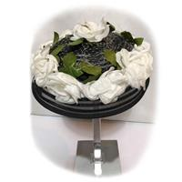 Fiftiesstore Vintage Hat Black with White Flowers