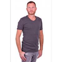 Garage T-Shirt V-neck semi bodyfit Dark Grey ( art 0302)
