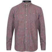 Tokyo Laundry Men's Sicily Checked Long Sleeve Shirt - Tango Red - Rood