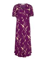 P O S T Y R Graphic-print Maxi Dress Dames Paars