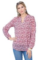 Your look for less! Blouse, rood geprint