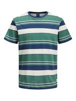 Jack & jones Veelkleurig Gestreept T-shirt Heren Green