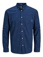 Jack & jones Bedrukt Button-down Overhemd Heren Blauw