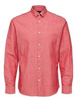 Selected Slim Fit Linen - Shirt Heren Rood