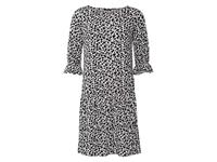 Esmara Dames jurk All-over-print/wit/zwart