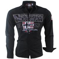 Geographical Norway heren overhemd zlacier - zwart