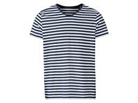 Livergy Heren T-shirt Blauw/wit gestreept