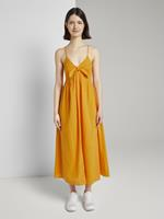 Tom Tailor Midi Jurk met Knoopdetail, orange yellow