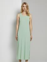 Tom Tailor Geribde Midi Jurk met Rugdetail, fresh mint