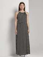 Tom Tailor Gestreepte Halster Maxi Jurk, black white stripe