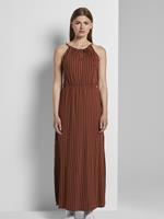 Tom Tailor Gestreepte Halster Maxi Jurk, rust black stripe