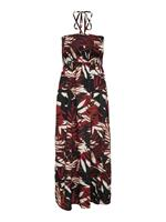 Only Smokdetail Maxi Jurk Dames Rood