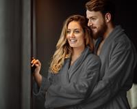 Dreamhouse Badjas - Hotelkwaliteit - Ultra Zacht en Warm - Geschikt voor Sauna of lekker Thuis - Antraciet