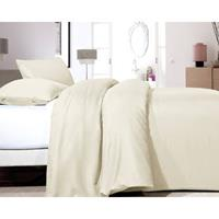 Dekbedovertrek Satin Point Creme-140x200/220