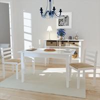 VidaXL Eetkamerstoelen vierkant hout wit 2 st