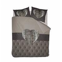 Nightlife Dekbedovertrek Fur Heart Taupe-140x200/220
